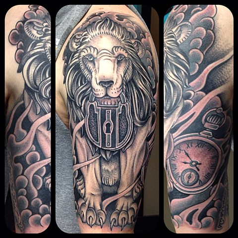 Lion Tattoo by Dan Wulff