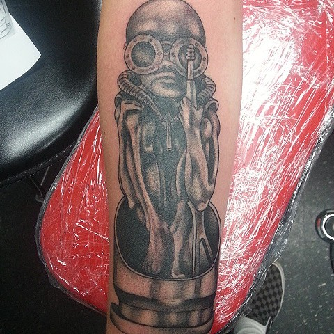 H.R. Giger Tattoo by Mike Hutton