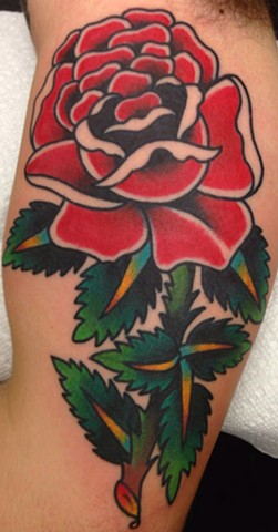 Red Rose Tattoo by Greg Christian