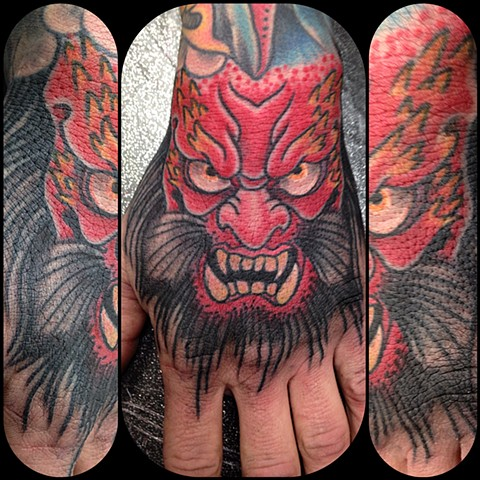 Oni Tattoo by Dan Wulff