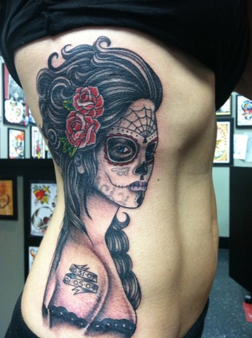 Day of the Dead Girl Tattoo by Mike Hutton