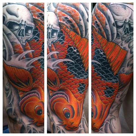 Koi Fish Tattoo by Mike Hutton