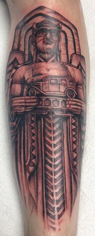 Guardian of Transportation Tattoo by Mike Hutton