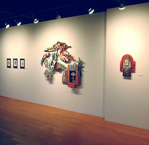 The Continual Measurement of the Days installation at Carberry Gallery, STCC, Springfield, MA.