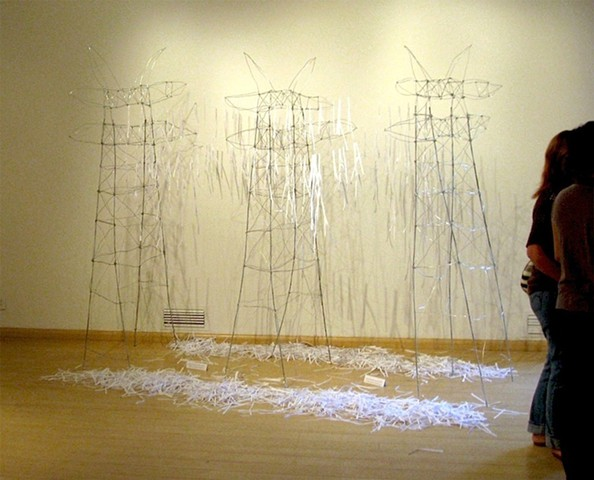 Text Art, Wire Sculpture, Large Sculpture