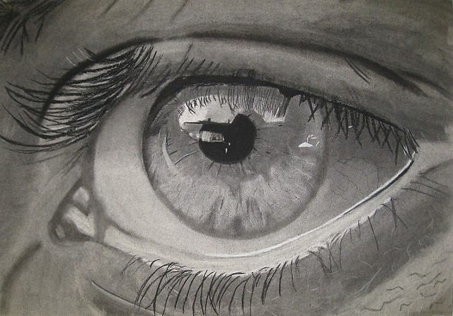 Student Work, Eye, Charcoal Drawing 2017