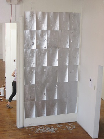 Silver Texting Wall