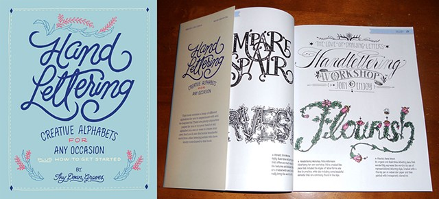 My Hand Lettering in a book.