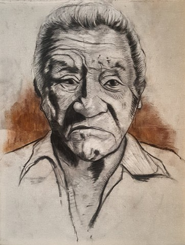 """Alfredo"" (Portrait of the artist's grandfather)"