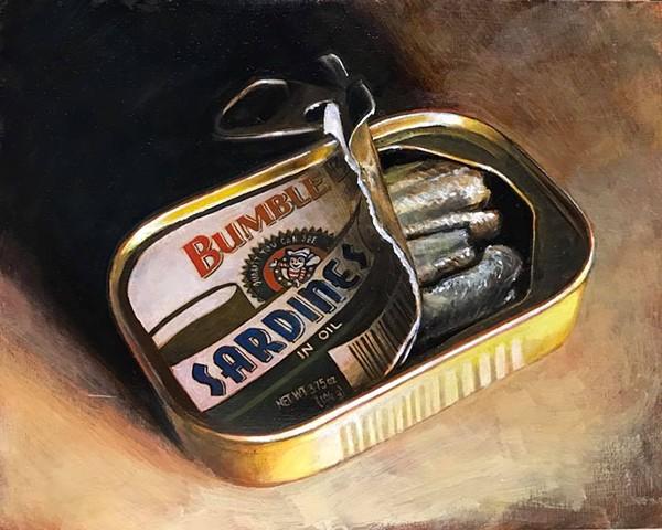 """""""sardines"""" oil on panel 8""""x10"""""""