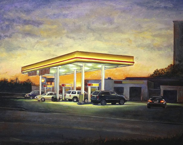 gas station painting