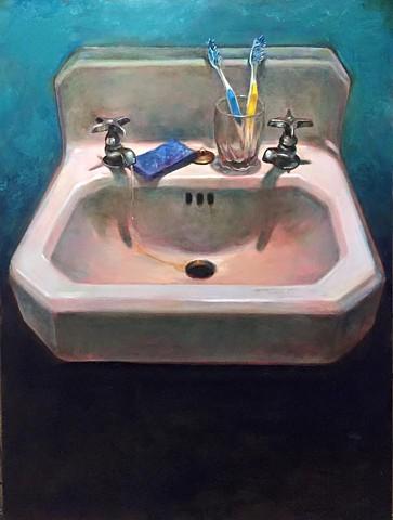 """sink"" oil on panel 18""x24"""