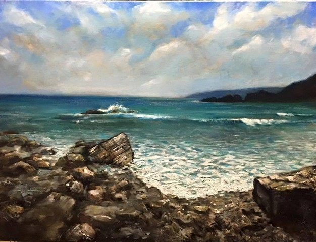 """North shore, oil on Canvas,oil on canvas, 18""""x24"""""""