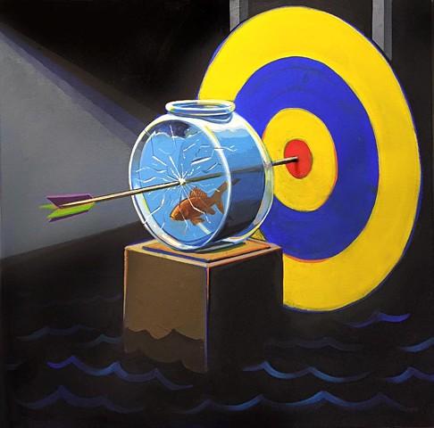 """target practice""acrylic on canvas 24""x24"""