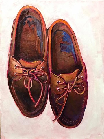 """boat shoes"" oil on canvas 18""x24"""