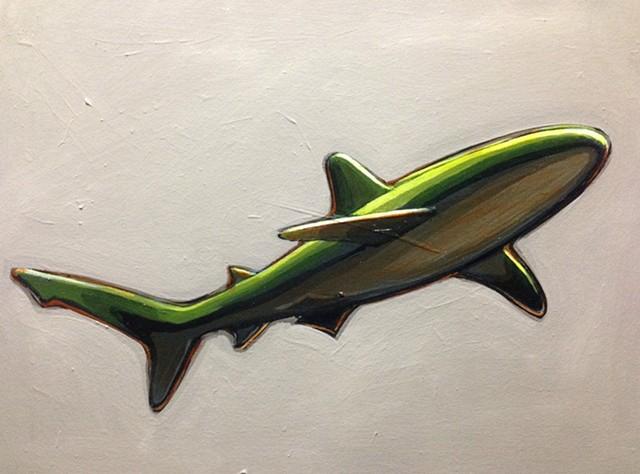 single green shark