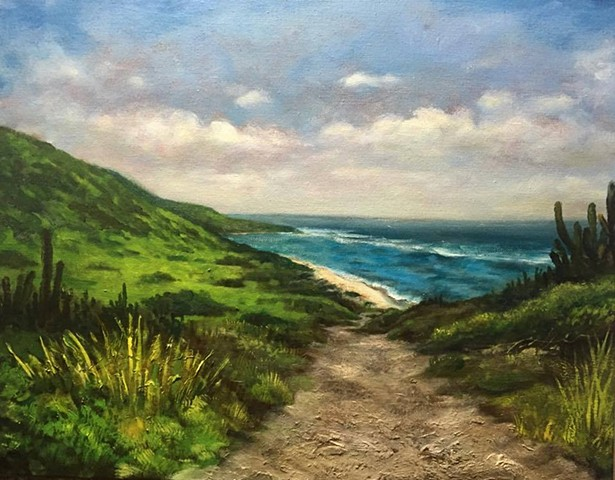 "Path to Isaac Bay, oil on canvas, 16""x20"""