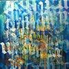 """""""ocean words 1"""" acrylic on canvas 18""""x24"""""""