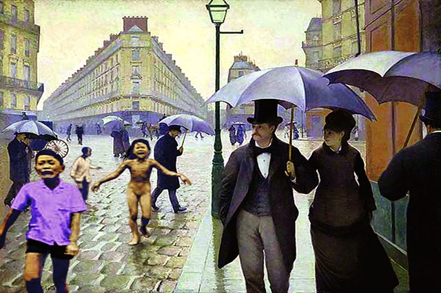 "Lessons in History Series  ""After Caillebotte / Rainy Day in Paris"""