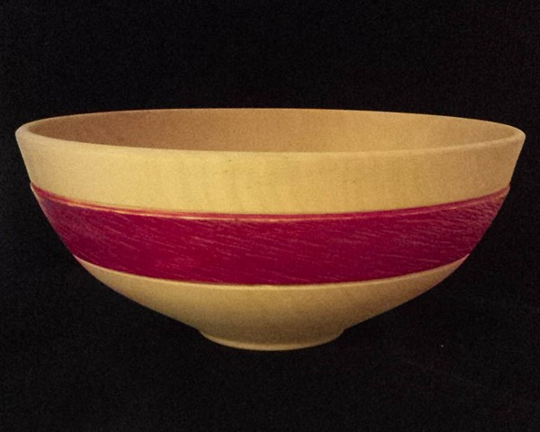 Maple Bowl With Painted Band