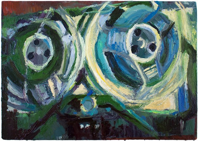 Brian Mouhlas WireTapping Surveillance Privacy Oil Painting Cuyahoga County Parma Strongsville Ohio Cleveland Art Contemporary Art Contemporary Painting HEDGE Art Gallery 2017