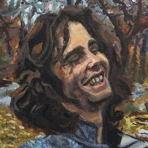Brian Mouhlas BrianMouhlasArt Strongsville Jim Morrison The Doors Painting 2012 Neo-Expressionism Neo-Figurative Neo-Portraiture Hauntology Allegory Cleveland Art Ohio Art Ambiguous Contemporary Art Abject Impasto Brian_Mouhlas Artist Painting Expressioni