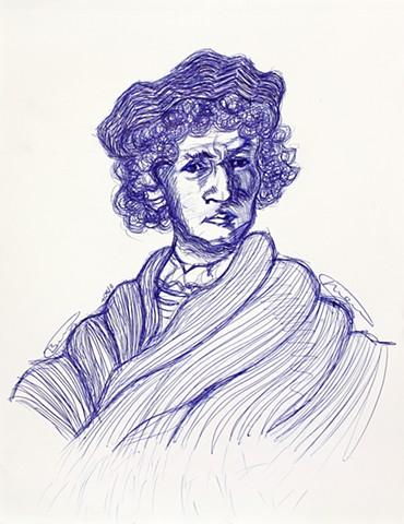 Study of a Rembrandt portrait