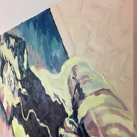 Brian Mouhlas Cuyahoga County Oil Paintings M.K. Mind Kontrol 2018 BMohlz Studio Cleveland Ohio