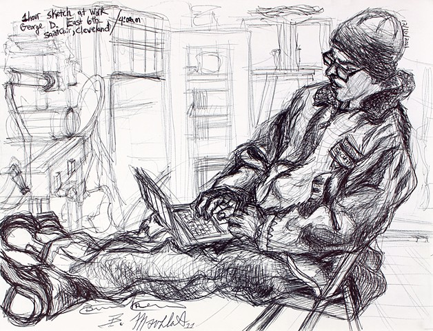 84(3)(2) George D. - Sketch at Work - East 6th and St. Clair [Detail 1]