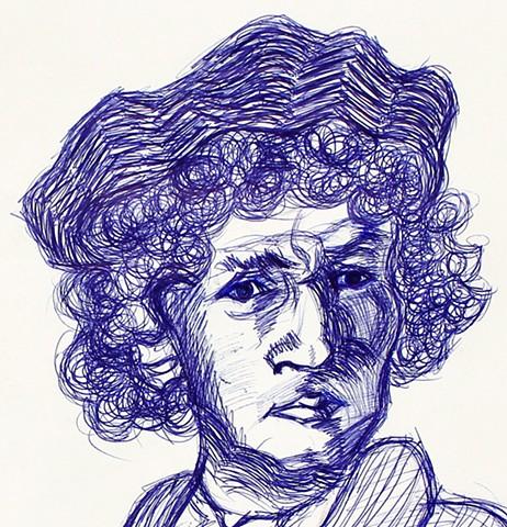 Study of a Rembrandt portrait [Detail]