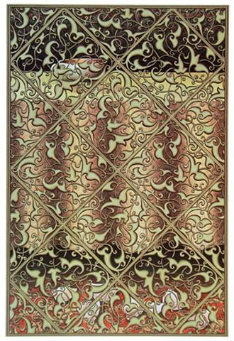 Islamic screen hiding broken cup on floor, veil