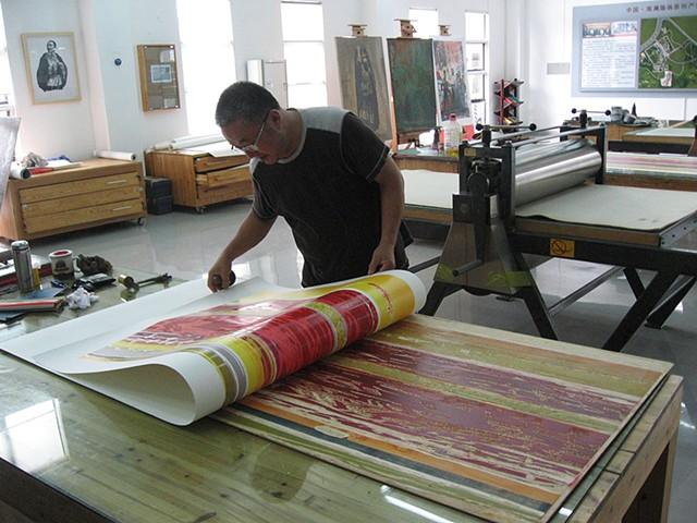 Woodcut studio