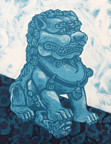 Foo dog, monotype, Fu dog