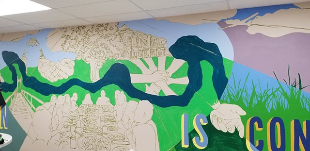 CCC mural in-progress - November