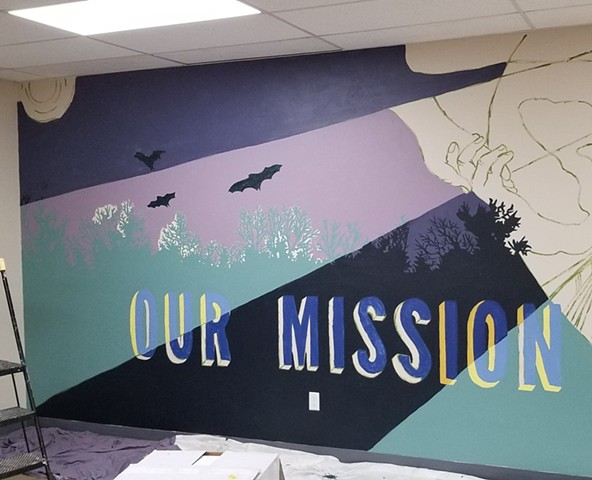 CCC mural in-progress - September