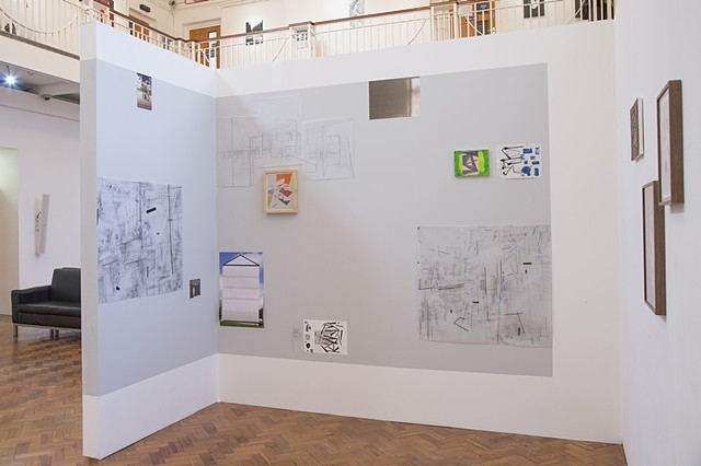 Phase I Ruskin Gallery, Cambridge  Installation shot 3 co-curated with David Ryan