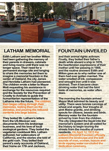 Latham Memorial Fountain Unveiled Latham Square, Downtown Oakland BLOCK Gallery