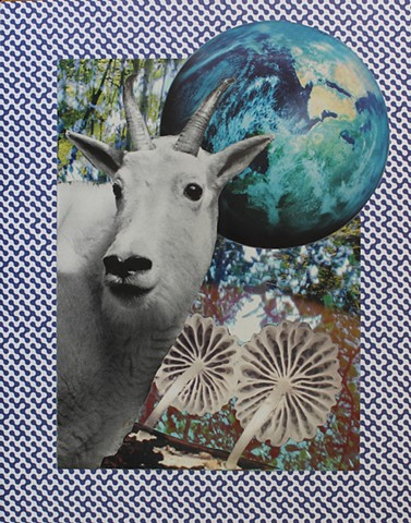 Psychedelic Goats and Other Horned Creatures No. 1