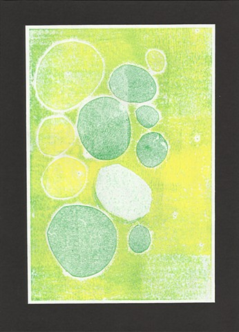 original monotype with circles