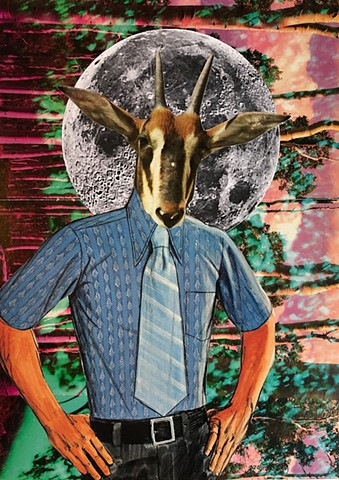 Psychedelic Goats and Other Horned Creatures No. 3