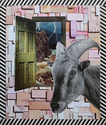 Psychedelic Goats and Other Horned Creatures No. 2