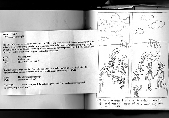 Page 3 sketch with script.