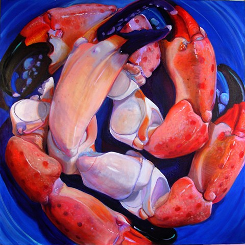 painting of snow crab legs