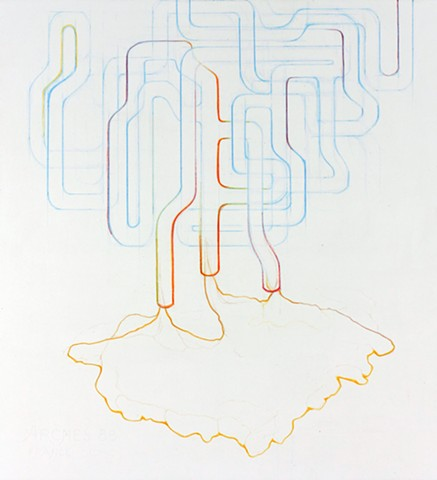 Colored Pencil Drawing of Pipelines by Kathleen Thum