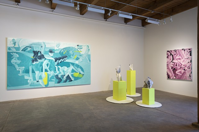 Installation view of NEW SUCCULENCE at Carrie Secrist Gallery