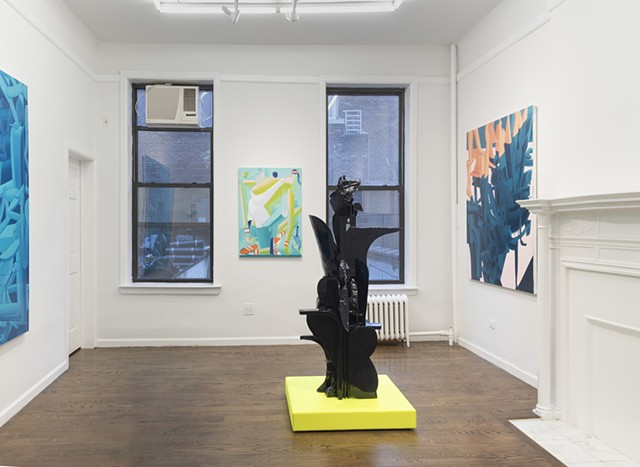 Installation view of ABOVE GROUND POOL at Johannes Vogt Gallery, NYC