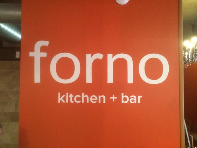 Hand painted logotype for Forno Kitchen Columbus Ohio.