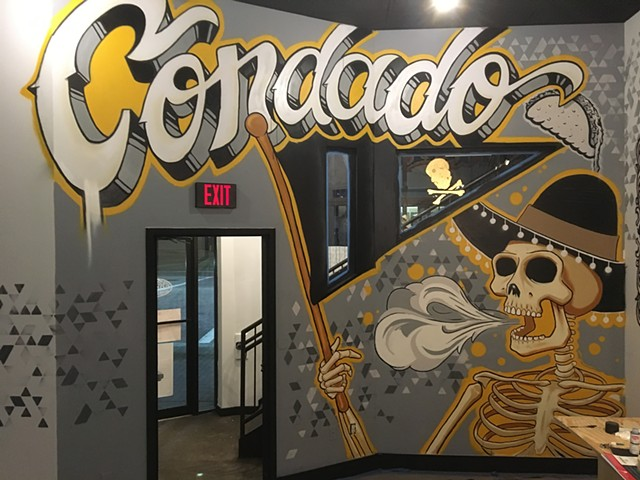 Mural painted for Condado Tacos in Pittsburgh Pennsylvania