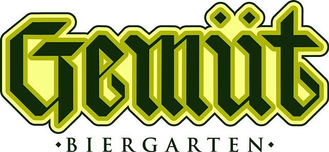 Logotype for Gemut Biergarten Columbus Ohio.