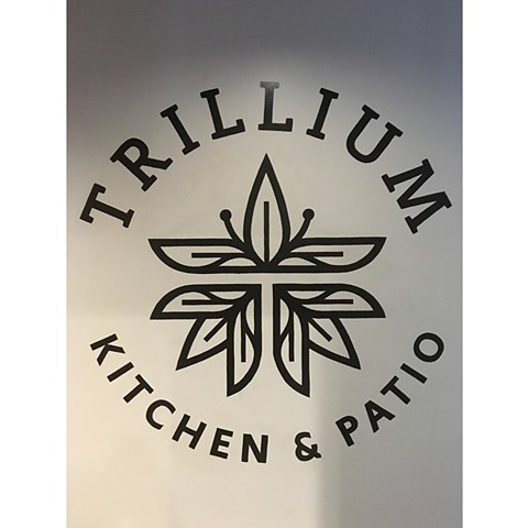 Hand painted logotype for Trillium Kitchen Columbus Ohio.